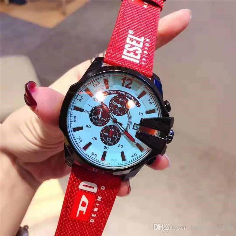 2020 Yeni Lüks Erkek Saatler DZ Dizel İzle Çoklu Saat Dilimleri Çalışma Erkekler Spor İzle DZ4323 DZ7314 DZ7332 montre de luxe