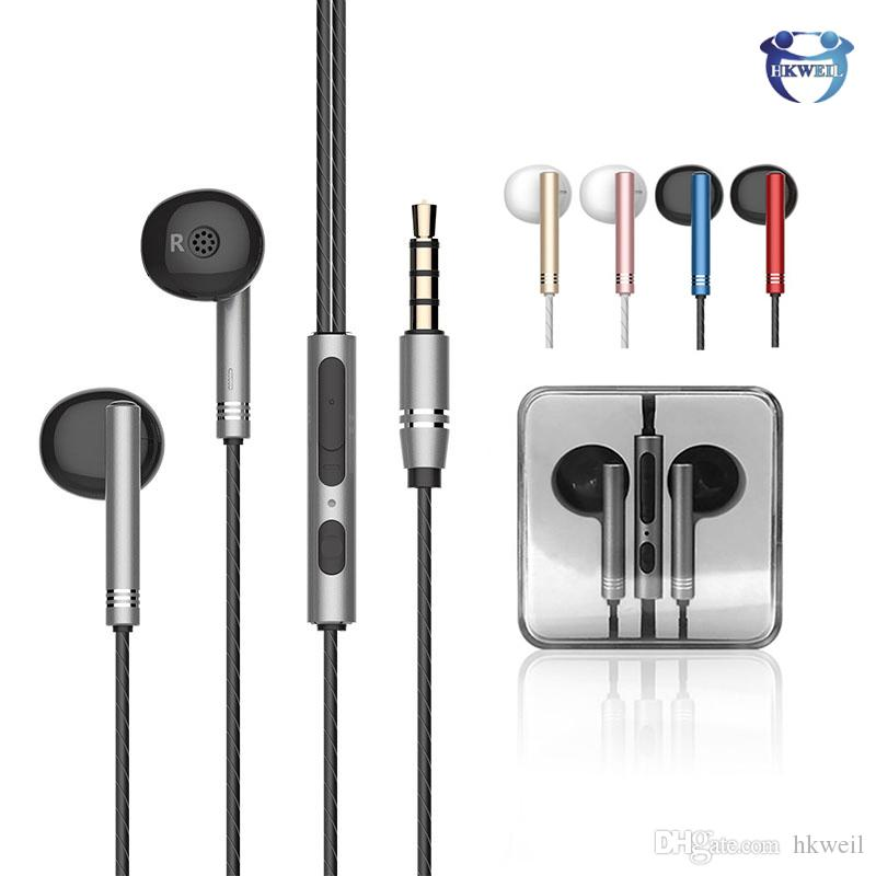 Metal In Ear Earphones 3 5mm Hifi Stereo Music Headphones With Microphone For Iphone 6 6s Plus Samsung S8 S9 S10 Earphones Bluetooth Headset From Hkweil 2 4 Dhgate Com
