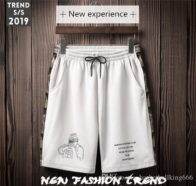 Цифровая печать больших размеров, спортивные штаны, летние пляжные шорты, мужские шорты для фитнеса, высококачественные эластичные баскетбольные брюки