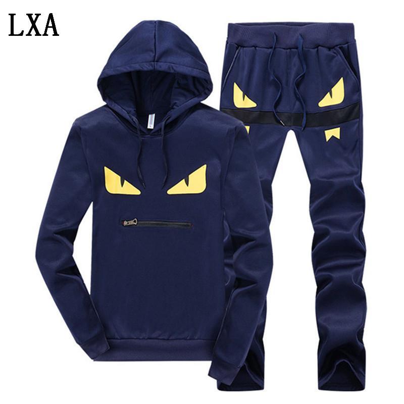 Set Primavera dei nuovi uomini di autunno Uomini Sportswear 2 piece set Sporting Giacca + Pant Sweatsuit Uomo Abbigliamento Tuta Set Outwear TZ-1