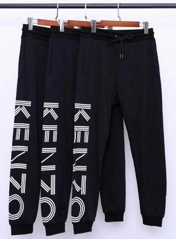 Новые брюки осень и зима популярные тигровые головы качество печати махровые ткани мужчины и женщины случайные спортивные спортивные штаны пара моды stre