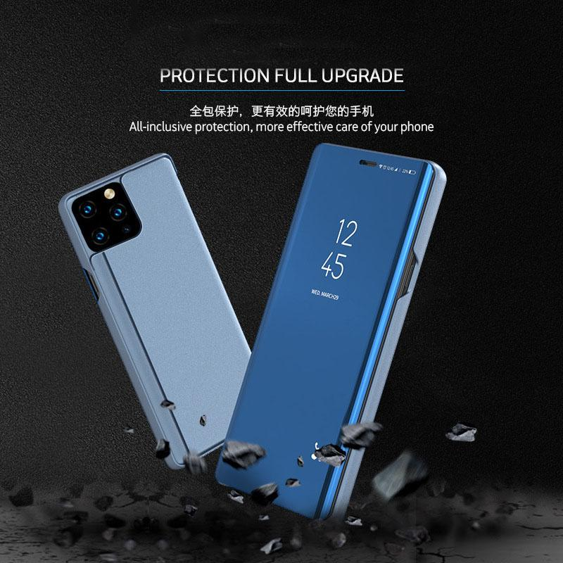 The New 11 Mobile phone Case vertical Mirror flip Phone case is suitable for iPhone 11 all-inclusive anti-fall shell Free Shipping