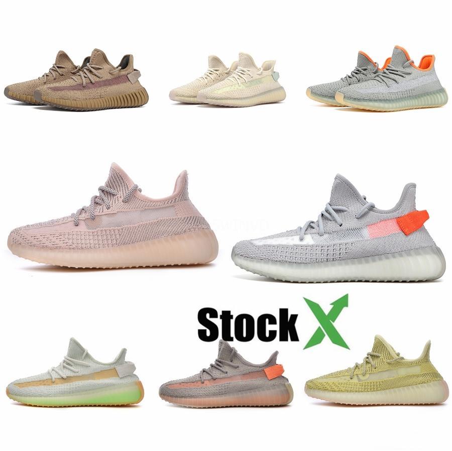 2020 Geode Mauve Plattform Kanye West Inertia V2 Wave-Plattform Vanta Static Og Fest Grau Designer Männer Frauen beiläufige Schuh-Turnschuh # QA982