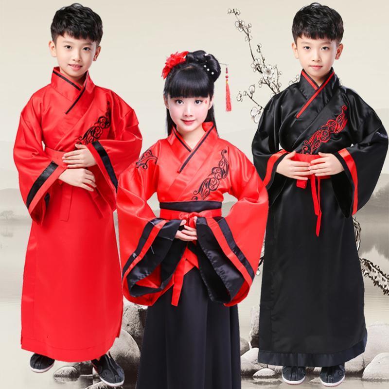 Songyuexia Traditional Chinese roupas vestuário dança folclórica infantil, roupas de ano novo bordado velho das crianças