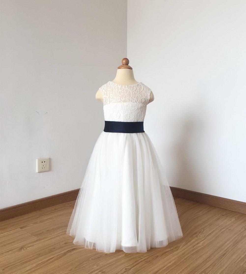 2020 Кружевной колпачок рукав новый цветок девушки платья для свадеб A-Line лук маленькие девочки первое причастие театрализованное платье
