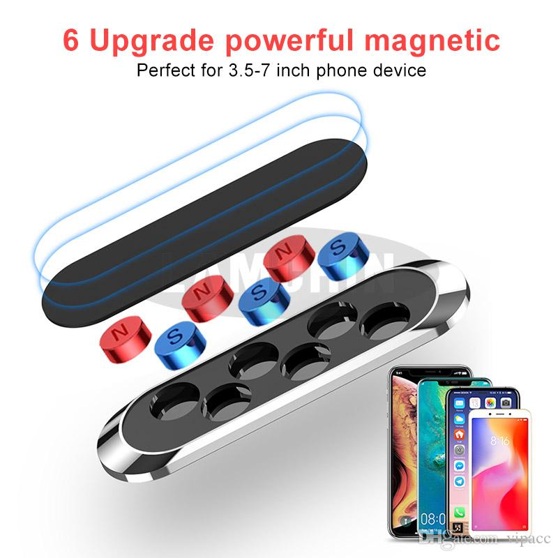 Magnetic Car Holder Telefono Auto Monti Mini metallo di placcatura del bastone del silicone del telefono cellulare di superficie sta per iPhone 11 forte magnete adsorbimento