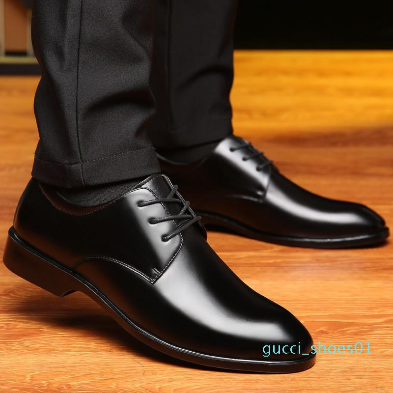 Hot Sale-2019 Frühlings- und Sommer Höhe zunehmende 6cm Formal Herren Oxford-Schuhe echtes Leder Business Casual Schuhe Herren Kleid Büro Schuhe g01