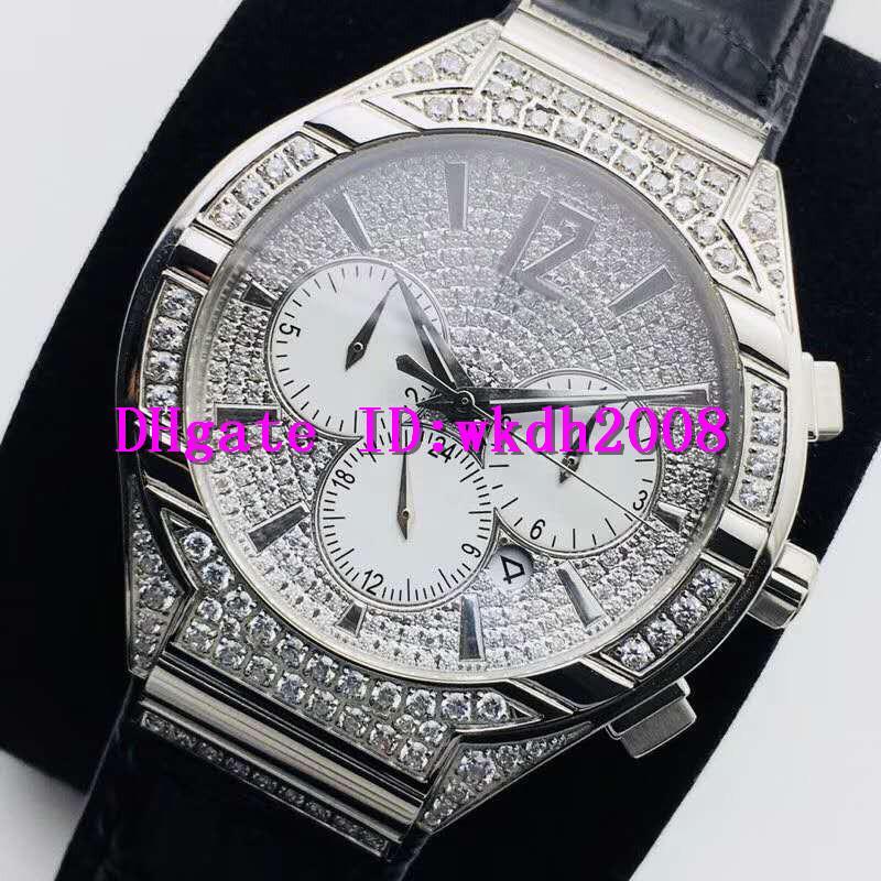 PFF Алмазный Бизнес часы Swiss 9100 автоматические механические 28800 полуколебаний неделя месяц Дисплей Сапфир из нержавеющей стали швейцарские часы Водонепроницаемые