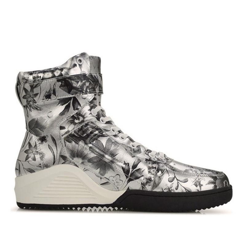 Tornozelo Botas de Inverno Men Casual alta-Top WorkSafety couro genuíno Shoes Men Designer Imprimir Lace Up Quente Sneakers neve Botas