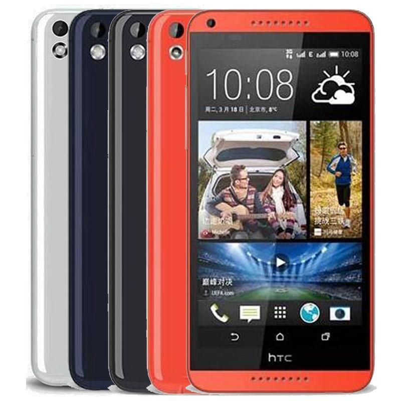 الأصلي الذي تم تجديده HTC الرغبة 816 5.5 بوصة رباعية النواة 1.5GB RAM 8GB ROM 13MP كاميرا الجيل الثالث 3G الذكية الروبوت الهاتف المحمول مجانا DHL 1PCS