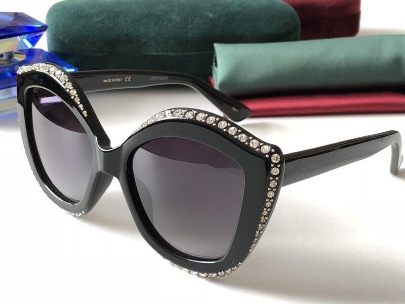 роскошь-0118 Популярного солнцезащитных очки Женщина Марк Дизайнер Cat Eye Summer Style Прямоугольник Full Frame верхнего качество UV защита объектив Come With Case