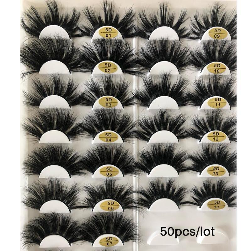 가짜 50쌍 3D 밍크는 도매 25 음 밍크 속눈썹 대량 전경 스트립 가짜 속눈썹 자연 개별 가짜 속눈썹 속눈썹