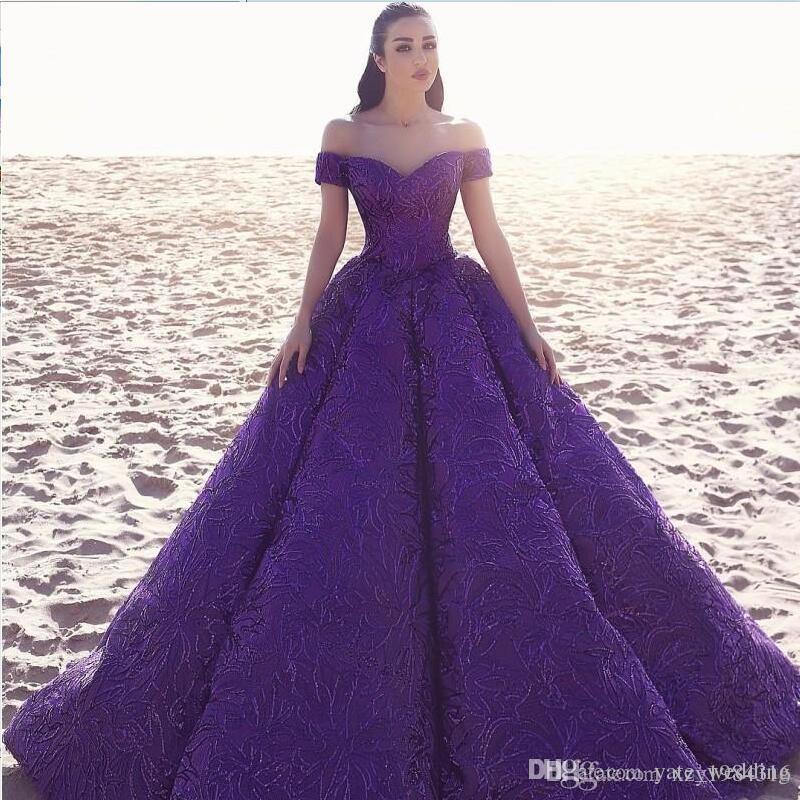Purple Elegant Evening Dresses