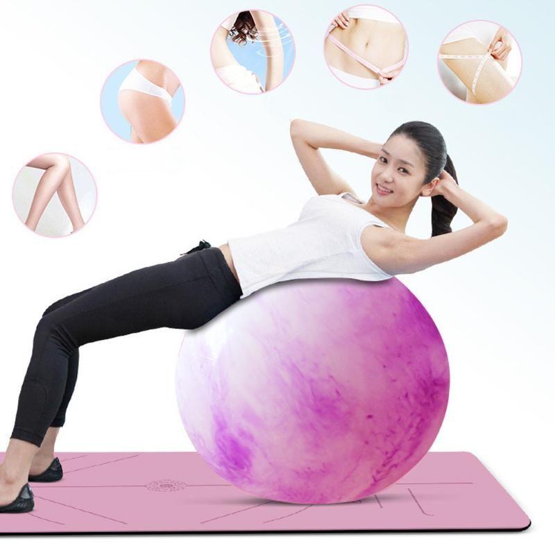 Yoga Anti-Druck Explosionsgeschützte 55CM Durchmesser Yoga-Übung Gymnastik Pilates Kugel Gym Heimtrainingsball