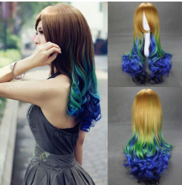 FREE SHIPPING + ++ 섹시한 데미안 끈을 입으십시오 Haar volle Anime Wig
