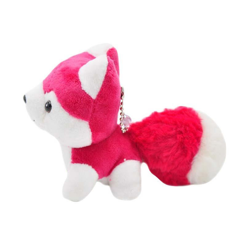 Husky Plush Doll European And American Style Safe Incense Mini Dog Shaped Doll Toy Metal Key Ring Pendant