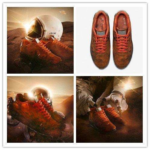 2019 Best New 90 Mars Landing Zapatos para correr para hombre 3M Reflexión Sneakers Pig Eight Material de cuero Moda Deporte al aire libre Jogging Shoes 40-46