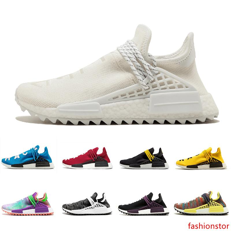 2020 Blank Canvas Nmd Human Race Men Women Running Shoes Hu