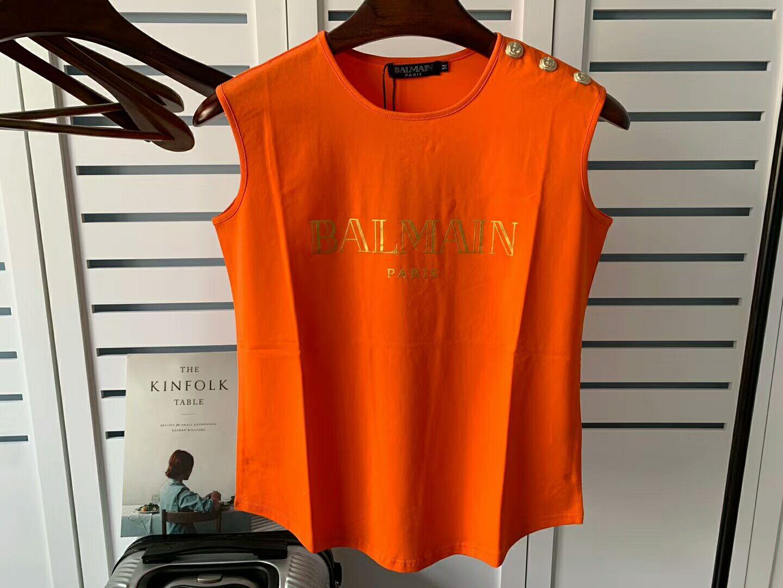 2020 Balmain Танки Женщины Топы Тис Мотоцикл Байкер Одежда Рок Короткие Танки Тощий Тонкий шорты Balmain Дизайнер