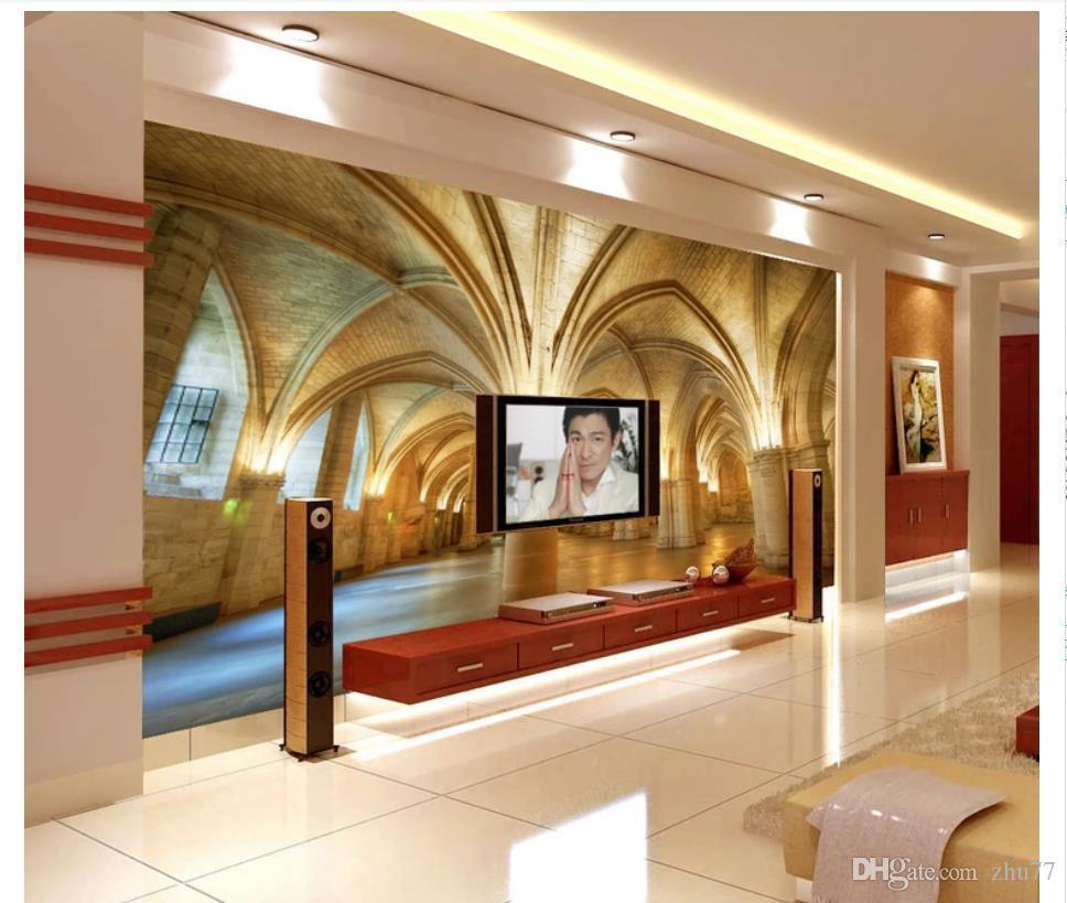 3D papel de parede personalizado foto de seda mural papel de parede 3D estéreo igreja cúpula quarto sala de estar TV sofá mural fundo adesivo de parede