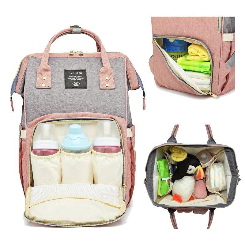 Lequeen Baby Bags для мамы подгузник сумка рюкзак родильная коляска мамочка сумка подгузник уход за ребенком изменение новорожденных для новорожденных