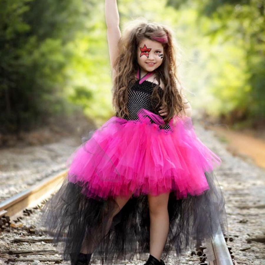 2020 Rockstar Halloween 2020 Rockstar Queen Girls Dress Christmas Halloween Costume Little