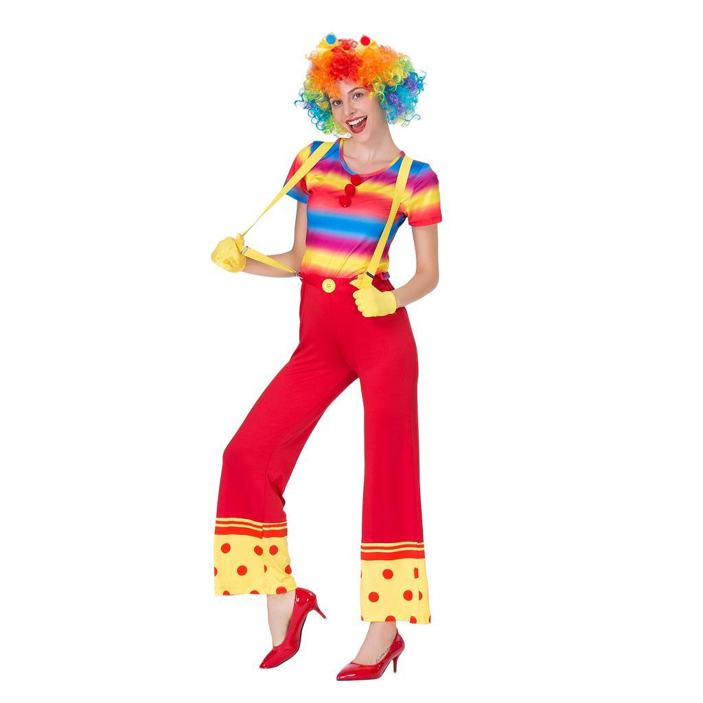 Смешные женщин Circus Clown костюм Outfit аксессуары
