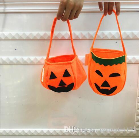 Çok Tarzı Çocuklar Cadılar Bayramı Balkabağı yaratıcı çocuk el şeker çantası DIY dokunmamış hediye çantası