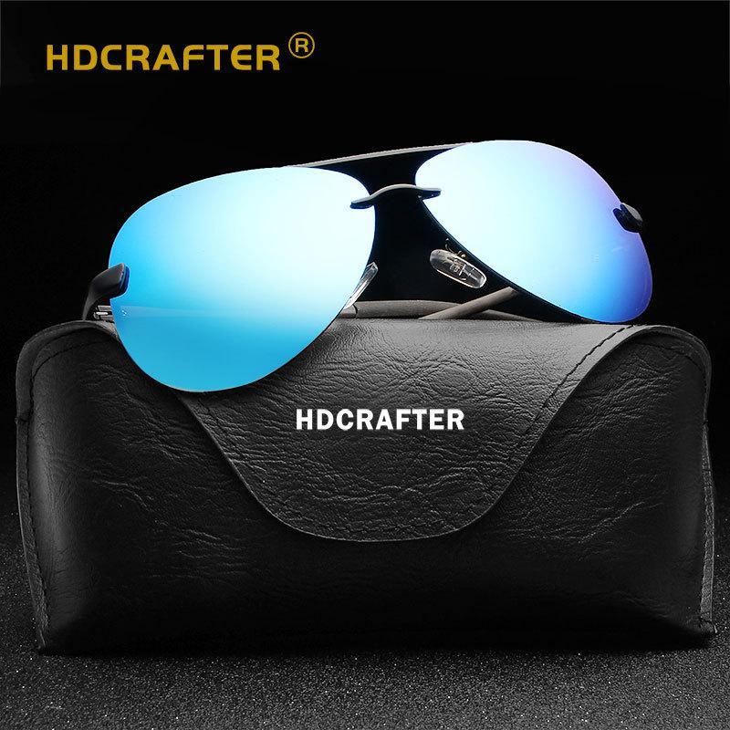 HD Crafter Herren Sonnenbrillen Aluminiumlegierung Männer Eyewear Rahmen Fahren Polarisierte Mode Angeln Outdoor Sport Designer Brille L005