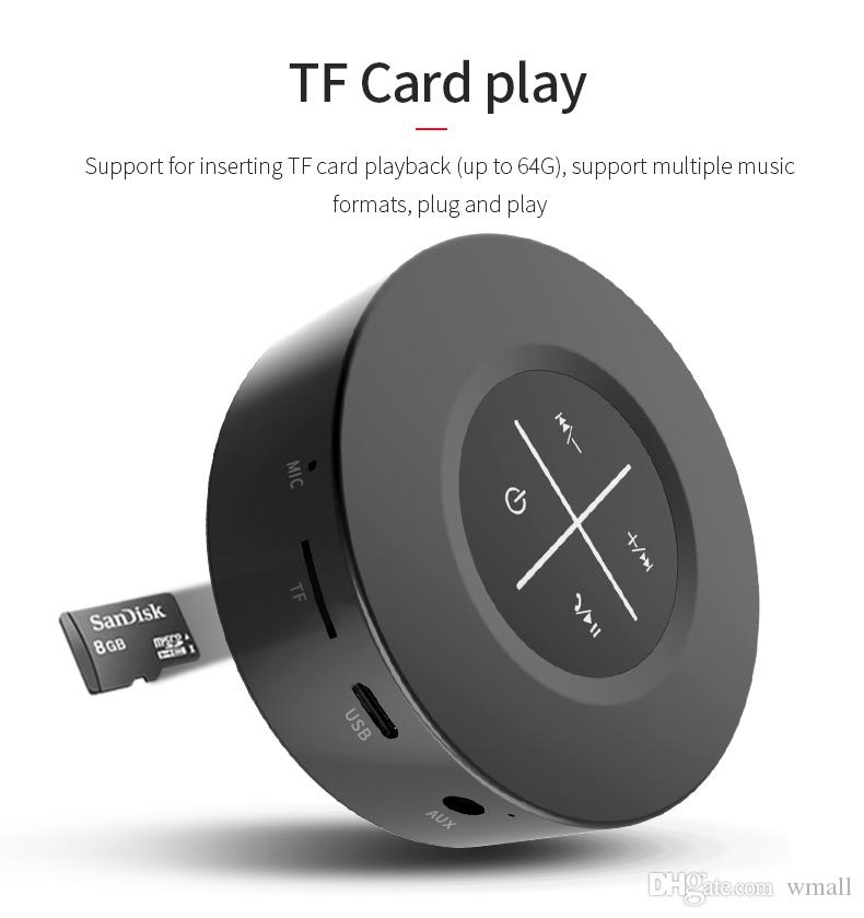 Mini Wireless Bluetooth Speaker Portable Touch Screen Stereo Speaker Subwoofer AUX Audio TF Card MP3 Music Player with Mic for Smartphone PC