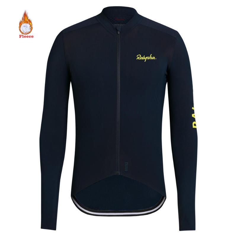 Ralvpha 2020 MTB Качество Зимняя Весна Термическая Флис Светоотражающий Велоспорт Джерси Длинный Рукав Велоспорт Одежда Классический Класный Дизайн
