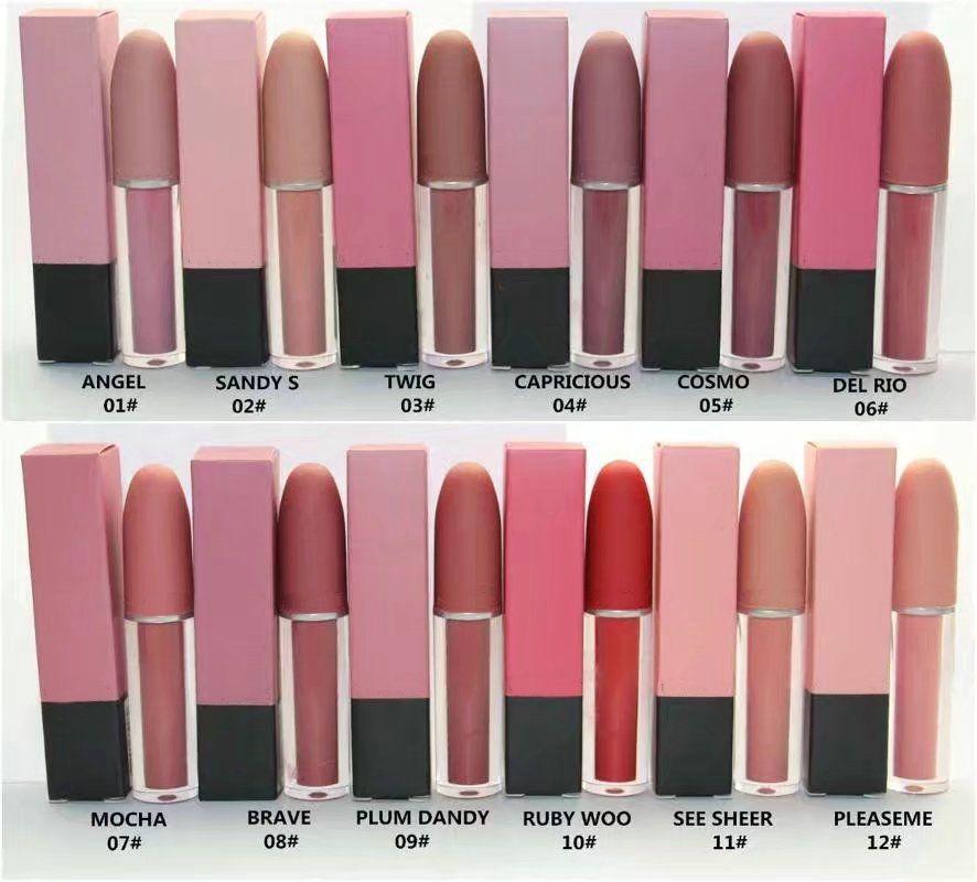2020New MATTE LIQUID LIPSTICKS Various colors Long Lasting lips 12 Colors 12pcs/lot