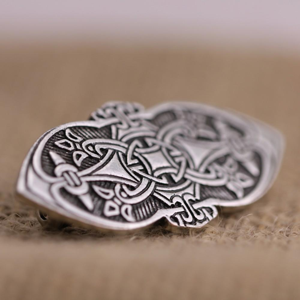 Atacado-1pcs Nordic Vikings Amulet fibula Set Broches Viking brosch jóias Talismã