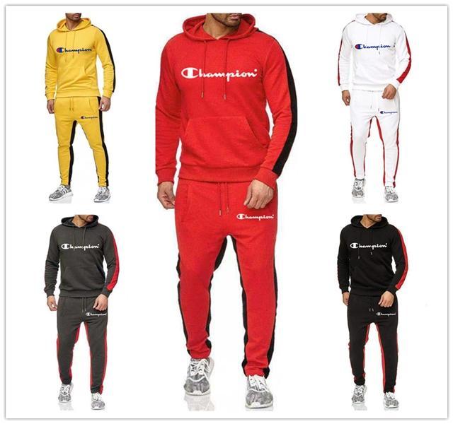 Men/'s Tracksuit Set Hoodie T-shirt Bottoms 3Pcs Jogging Suit Hoodie Sportwear