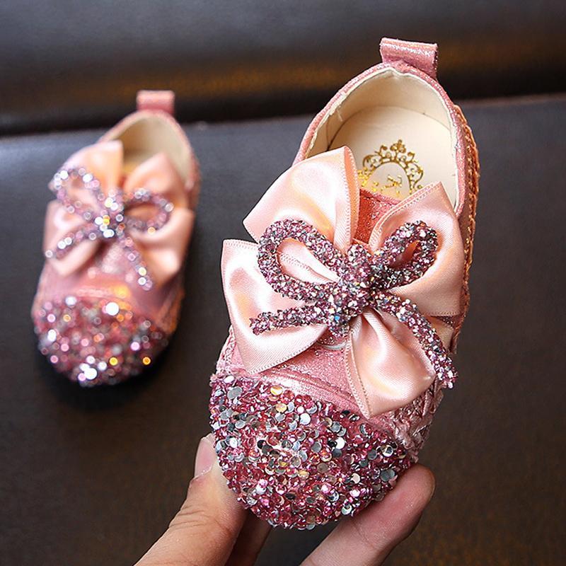 Ulknn новая кожа круглая голова ребенка квадратный рот девушки сладкий мягкое дно цветы Принцесса обувь MX190726