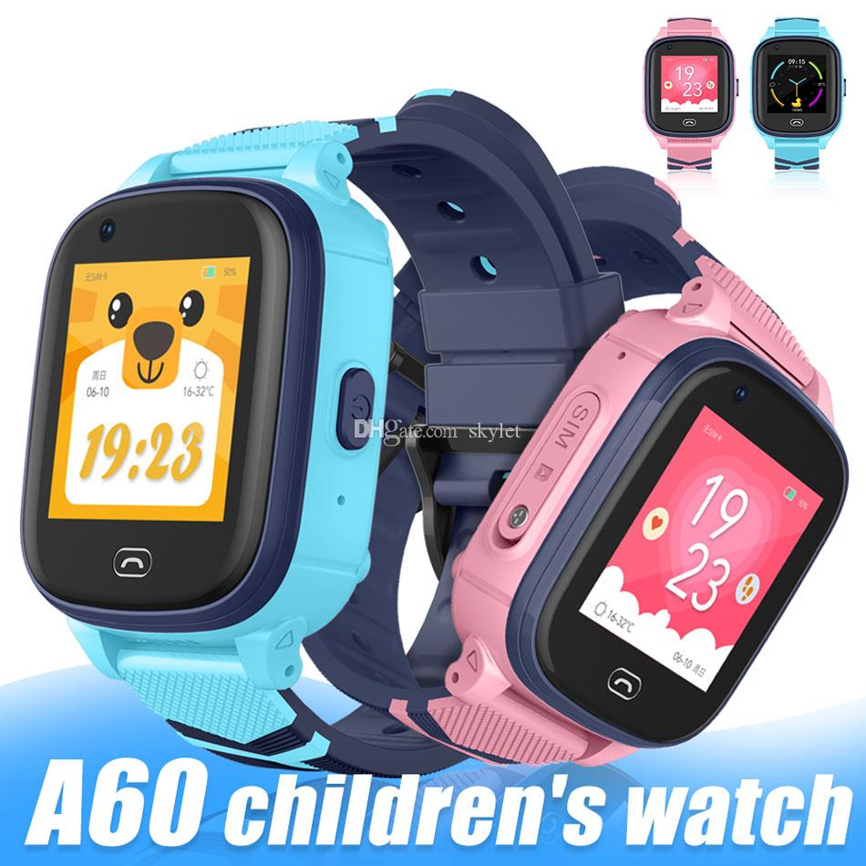 A60 Kinder Smart-Uhren WIFI Fitness-Armband-Uhr mit GPS Connected IP67 wasserdicht 4G SIM Mobilsmartwatch für Kinder