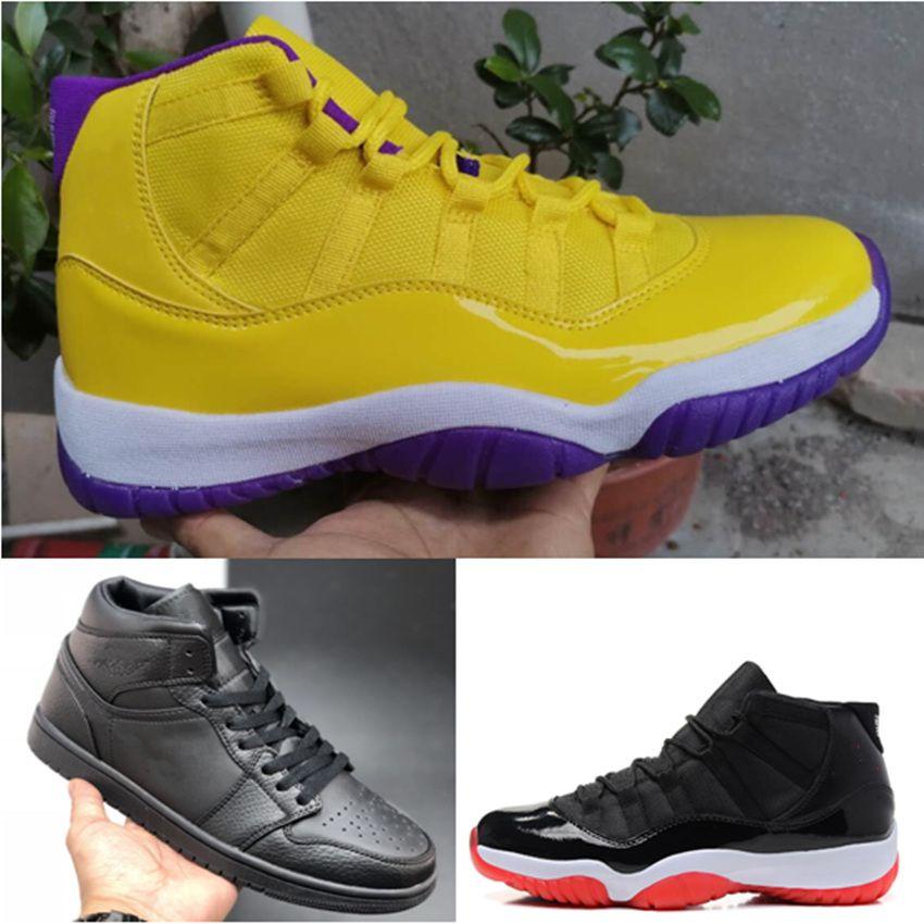 2020 büyük oğlan siyah basketbol ayakkabıları 11 11'leri erkek spor ayakkabısı Yeni 1 yüksek OG siyah 1 1s spor ayakkabı ücretsiz kargo