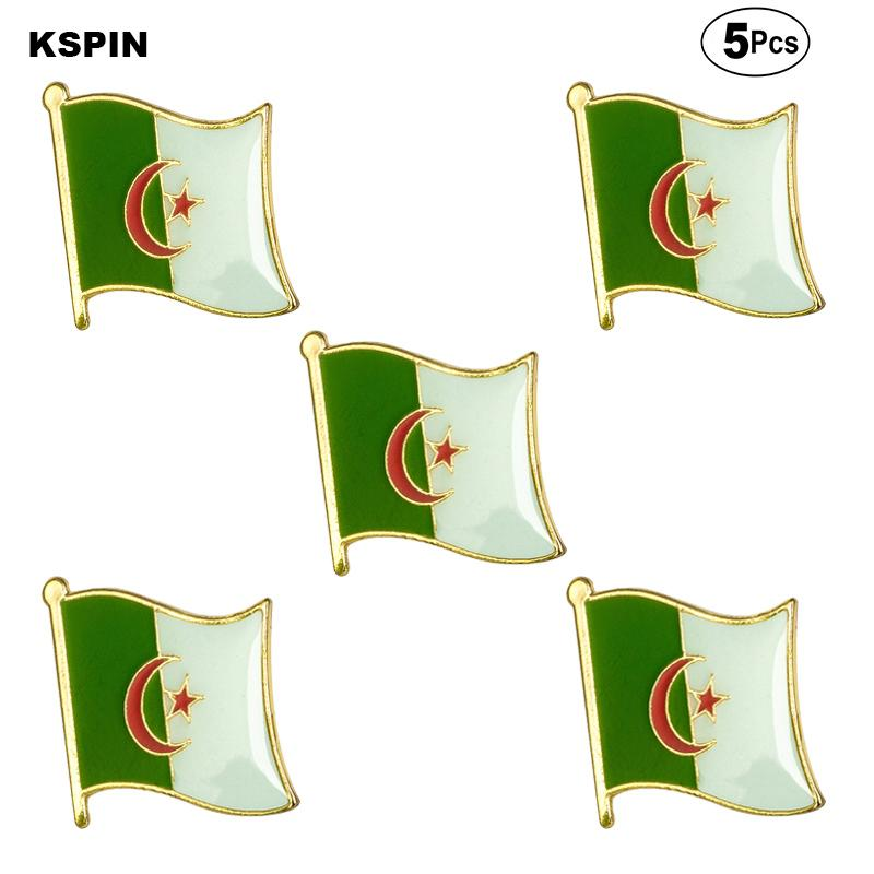 Алжир Флаг брошь булавка флаг бейдж Брошь Pins Жетоны 5шт Много