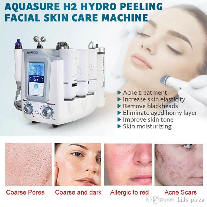 Yeni H2 Hidro Dermabrazyon Hydra Yüz Makine BIO Kaldırma Masaj Su Soyma Yüz Bakımı Derin Temizlik Spa Güzellik Makinesi