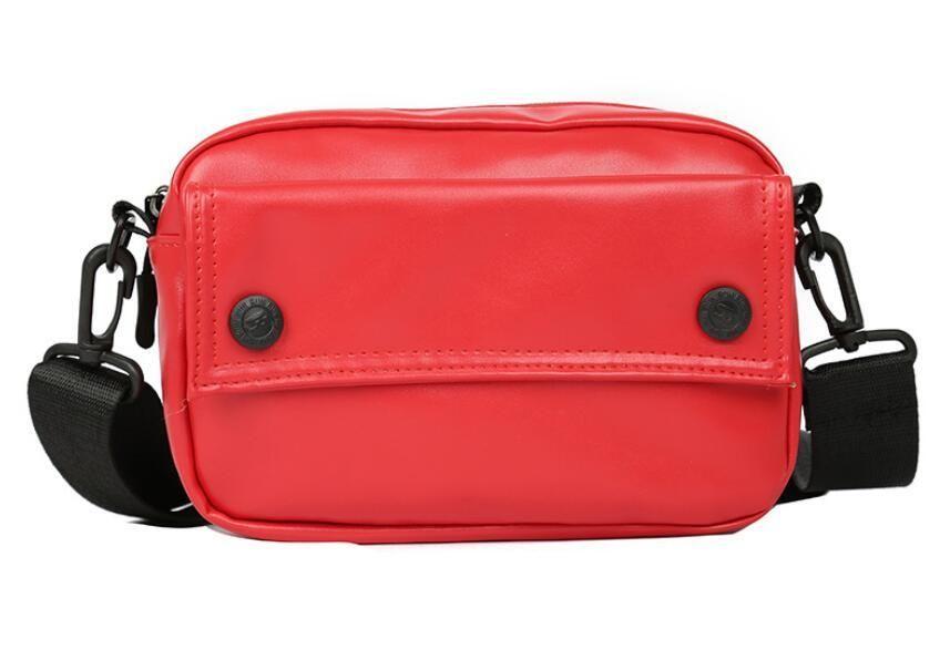 Womens PU Messenger Bags Solid Color Crossbody Bags For Girls Shoulder Female Designer Handbags Small Purse