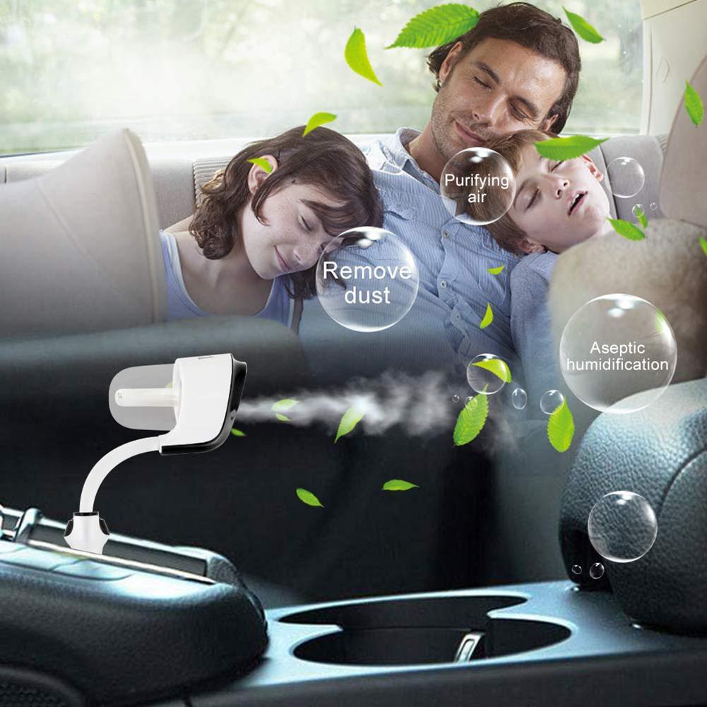 Dönen Araba Aroma Nemlendirici Hava Taze Arıtma Taşınabilir Araba Hava Temizleyici ile 2 USB Şarj Cihazı