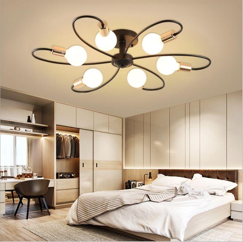 Новые Современные E27 360 градусов лампы в комплекте свет подвеска Америка стиль 3 5 6 8 головка Потолочный светильник Освещение