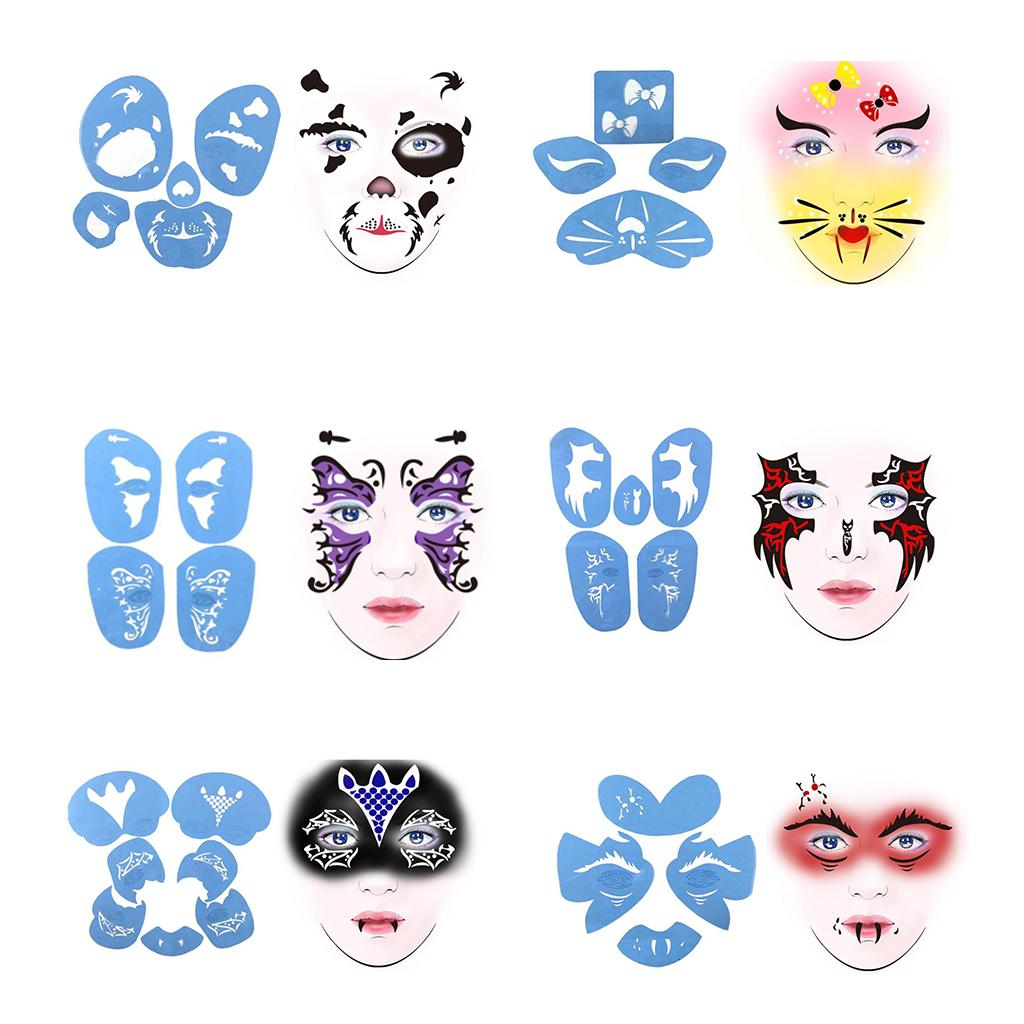 Reusable Face Paint /& Airbrush Tattoo Stencil Body Painting Makeup Template