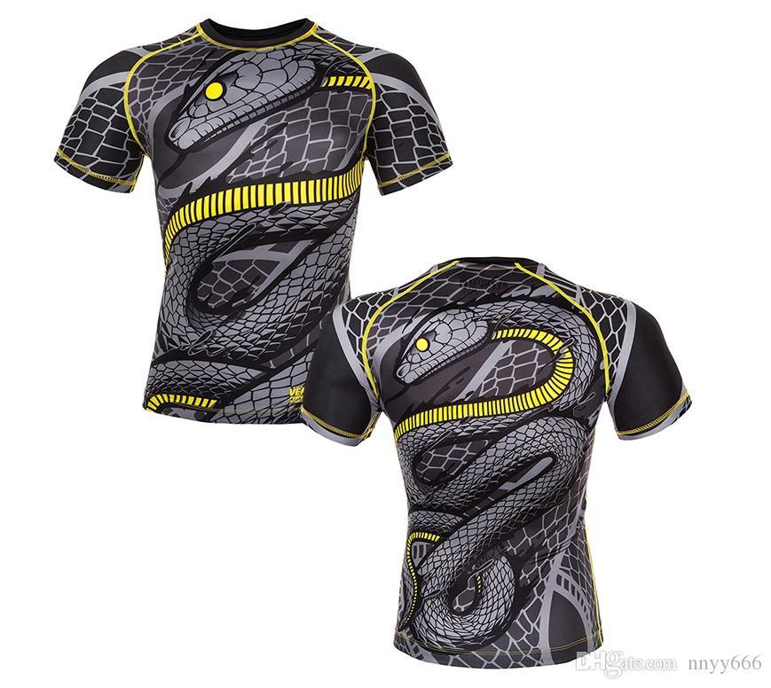 MMA sports UFC M1 MenT-shirt--Muay Thai boxing JUJITSU ABSOLUTE RASHGUARD Venum Nightcrawler MMA Fighting short Sleeve O-neck men T-Shirt t