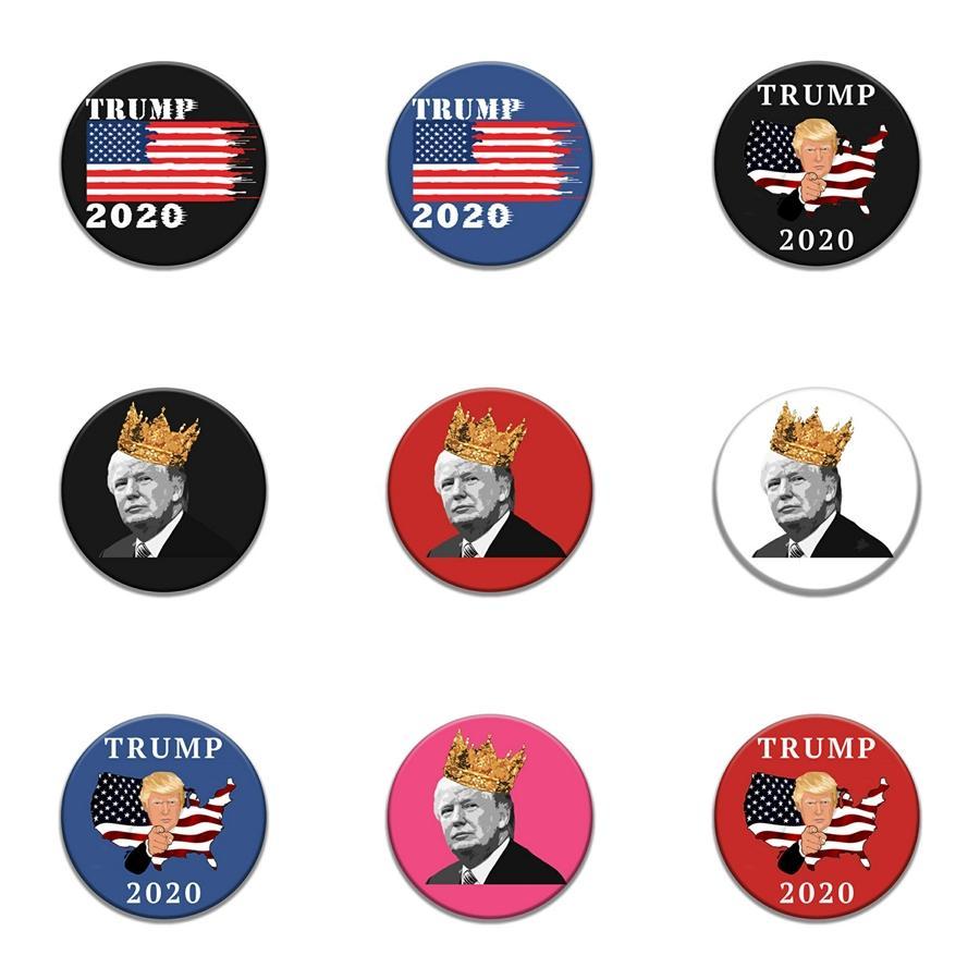 Bandeira da estrela da bandeira Trump emblema Trump Bandeira Badges Trump emblema Lapal Pin On Backpack pinos para Roupas Xy0369 # 396