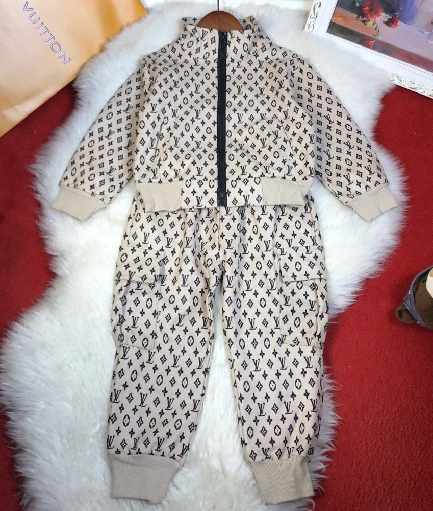 Yeni Ürün Sonbahar Boys Seti Uzun Pantolon İki parçalı Suits Sokak Stili Moda Casual setleri 030.915