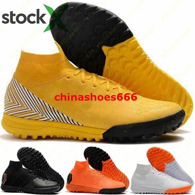 Mercurial Superfly 6 Elite VI taille Hommes nous 12 CR7 crampons de football eur 46 chaussures de football Hommes TF IC Chaussures ronaldo formateurs en cours vulcanisé
