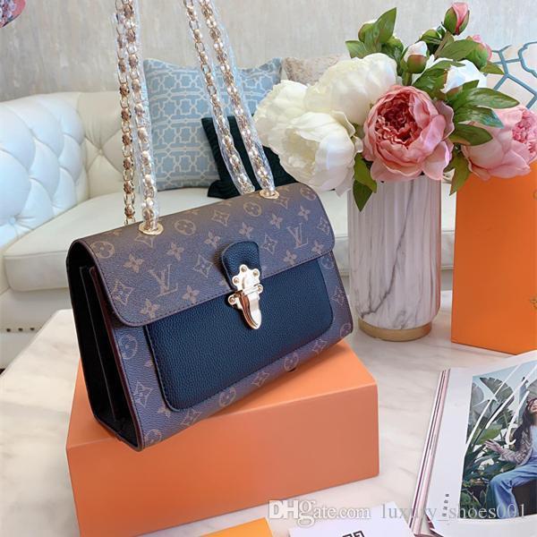 Tasarımcı lüks kutu ile cüzdan kadınlar Sıcak Satış Moda Kadınlar Omuz Çantası Klasik Deri Altın Zincir Kadınlar Çanta Bez Torbaları Messenger handbags