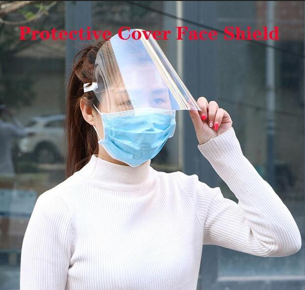 Protective Face Mask PET transparent Anti-fog Dust Isolation Cover Face Shield Kids Adult Multi-Function Oil-Splash Proof FY6050