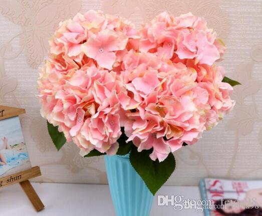 5 garfo Mallorca Hydrangea simulação de flores no atacado buquê de flores de casamento casa Entrega grátis W188